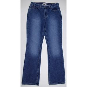 Tommy Hilfiger Blue Medium Wash Hipster Boot Jeans